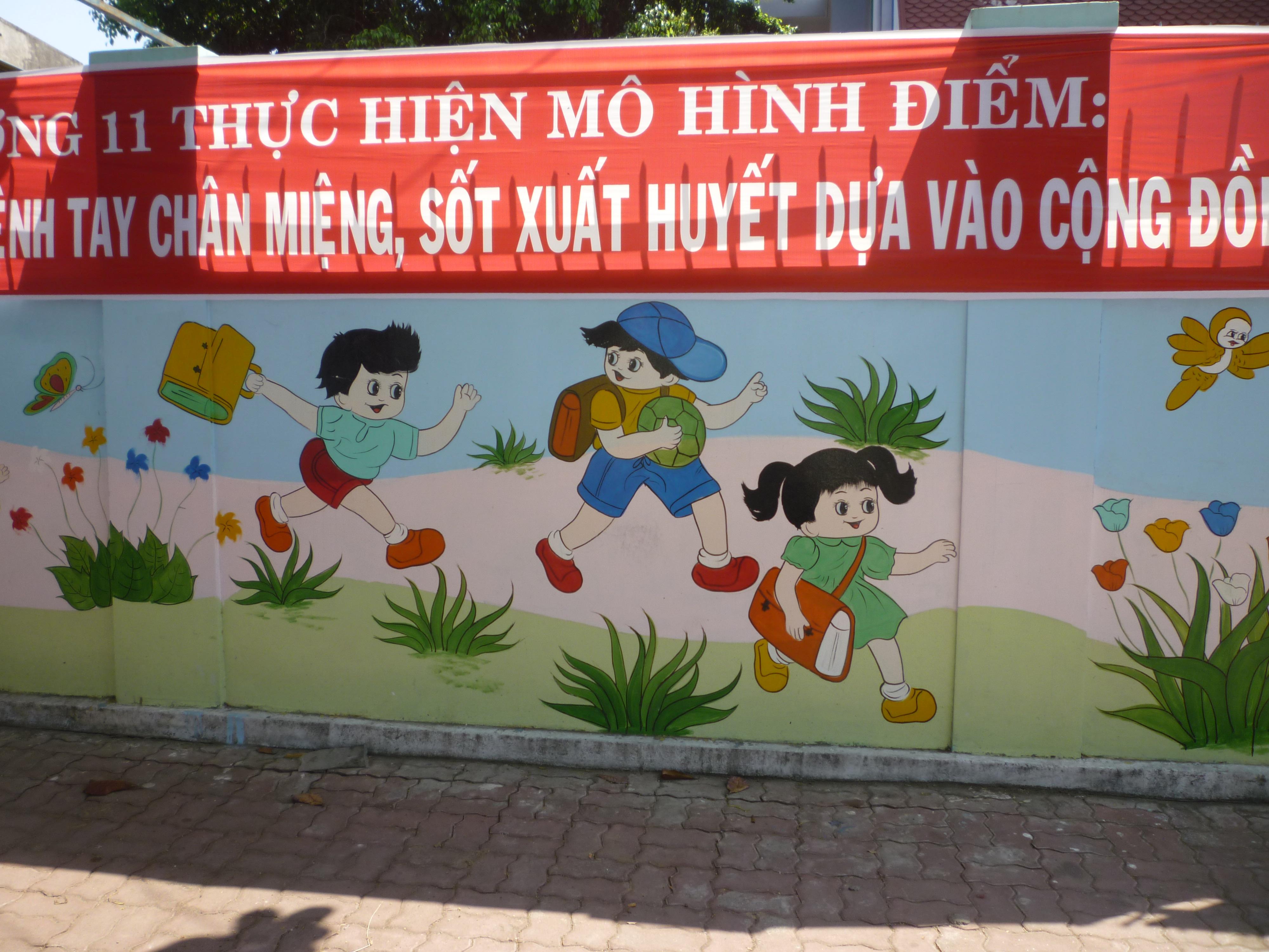 tranh tường trường mẫu giáo