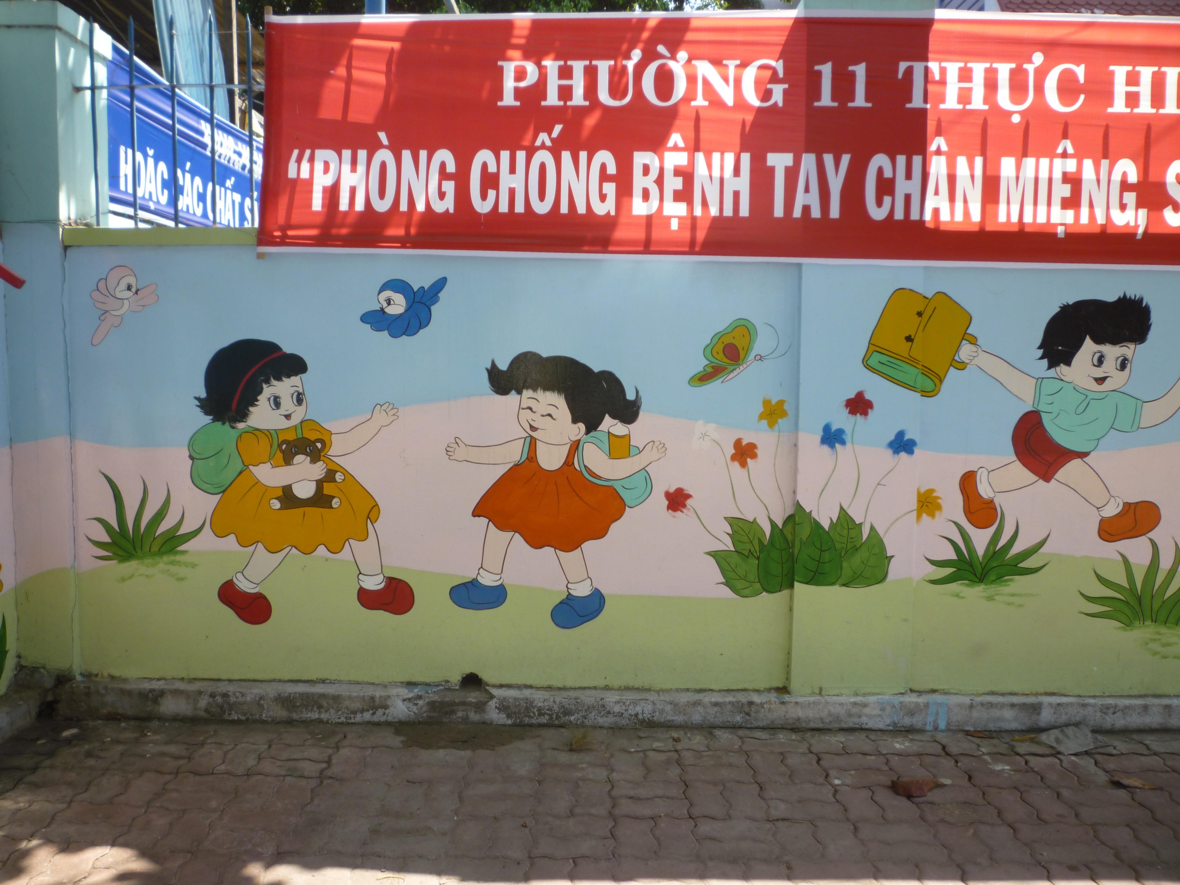 tranh tường nhà trẻ